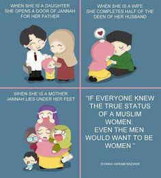 The status of women in islam! tingginya martabat seorang wanita dalam islam