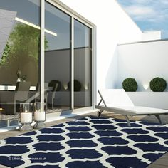 Indoor Outdoor Area Rugs, Outdoor Decor, Trellis Rug, Antibes, Geometric Rug, Simple Living, Large Rugs, Pastel, Blue And White