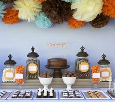 Fall Inspired Baby Showers | fall baby shower center piece and our fall baby shower invitations ...