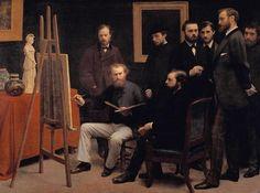 Fantin-Latour, Henri : Un atelier aux Batignolles...