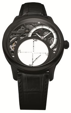 Maurice Lacroix Masterpiece Seconde Mystérieuse in Black PVD Steel