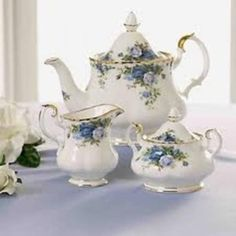 Royal Albert - Moonlight Rose set - another favorite pattern I would love to have a set of...