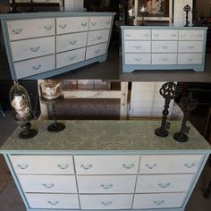 another stenciled dresser top, painted furniture, Finished