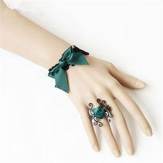 Vintage New Woman Bracelets Ribbon Bowknot Rose Flowers Bridesmaid Creative Gift Lace Bracelets Fashion Wedding Accessories  #Affiliate