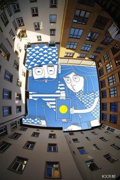 More Fantastic Doodles of Characters Living in Skylines by Thomas Lamadieu - My Modern Met
