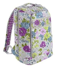 """VERA BRADLEY Laptop Backpack in Watercolor NEW, Free shipping $75: RETAIL $    We gave the Large Backpack a modern makeover.     Fabulous color meets functionality in this travel-friendly bag, capable of housing binders, folders and a 15"""" laptop.     Slots, slip pockets and pen holders keep odds and ends in place in this essential for today's student or professional.    MEASURES:  11½"""" x 15¾"""" x 7"""" with 28½"""" adjustable straps GREAT BAG    FREE SHIPPIN..."""