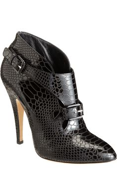 Super Saucy Casadei Snakeskin Embossed Ankle Bootie at Barneys