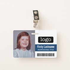 Custom Employee - Photo Bar Code Logo Name Badge - photo gifts cyo photos personalize