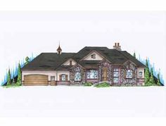 Floor Plans AFLFPW75137 - 1 Story European Home with 3 Bedrooms, 2 Bathrooms and 2,284 total Square Feet.  Good layout and basement