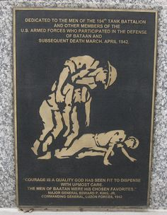(The level of love these veterans gave to each other in their time of torture is astounding to me.) In Commemoration of the Anniversary of the Bataan Death March Bataan Death March, In Remembrance Of Me, War Dogs, Historical Artifacts, Prisoners Of War, Armed Forces, World War Two, American History, Wwii