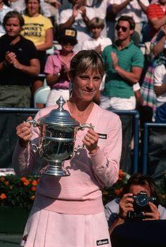 Chris Evert ---- champion the US Open 1985