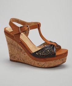 Look what I found on #zulily! Black Kolada Wedge Sandal by Bucco #zulilyfinds