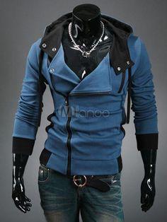 Hot Zipper Cotton Men's Assasin's Creed Hoodie - Milanoo.com