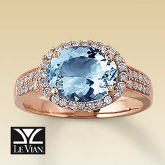 I have been in love with this Le Vian aquamarine strawberry gold ring for years. Too bad I waited too long and now it's discontinued.