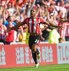 Jermaine Defoe of Sunderland AFC against Newcastle United