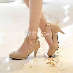 Pantofi pentru femei - Imitație de Piele - Toc Gros - Vârf Rotund - Pantofi cu Toc - Casual - Negru / Roz / Roșu / Gri 1644909 2016 – $29.99
