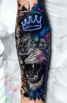 Beautiful Lion Tattoo Design - My list of best tattoo models Leo Tattoos, Forearm Tattoos, Body Art Tattoos, Sleeve Tattoos, Sleeve Tattoo For Guys, Tatoos, Mens Lion Tattoo, Tiger Tattoo, Tattoo Cat