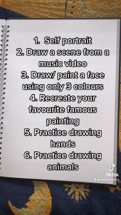 sketchbook prompts | sketchbook ideas | @claramorrisonn on Tiktok