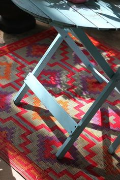 Ideas for Awesome Outdoor Living - DIY Outdoor Rugs!  See all the fun ideas in our blog post: http://lujo.co.nz/blogs/lujo-inspiration-blog/10053849-outdoor-living-ideas