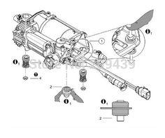 Compressor air suspension 7L0 698 007, 7L0698007, 7L8616006, 7L8616006A for Volkswagen Touareg