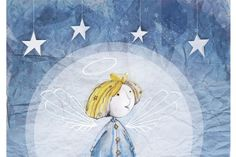 christmas card with angel | Little Angel Xmas-card