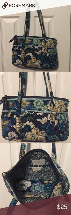 Vera Bradley Blue Little Betsy Bag 2 Piece Bundle= 1 Bag + 1 Flip Phone/ Accessory Case. Bag is in excellent used condition. Minimal signs of wear on the handles. No rips, tears, or stains. Vera Bradley Bags Shoulder Bags