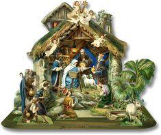Lantern Nativity - PaperModelKiosk.com