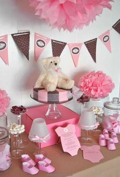 Baby shower or for a little girls 1st b-day. Too cute!