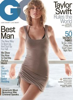 Taylor Swift shows off a very different side for the November 2015 cover of GQ Magazine where she poses in a sultry look including a long tunic and bikini look.