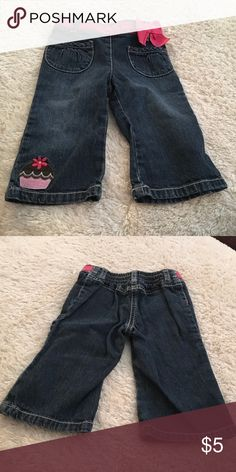 Demin jeans Blue jeans with cupcake on leg. Good condition Gymboree Bottoms Jeans