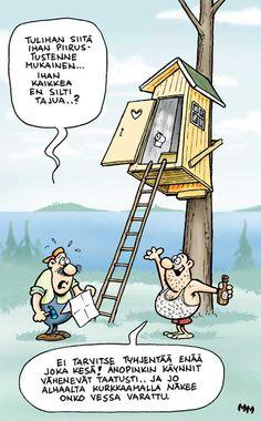 Huussi up a tree Comics, Funny, Art, Art Background, Kunst, Funny Parenting, Cartoons, Performing Arts, Comic