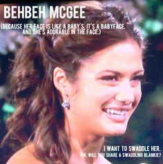Kacie B, aka BEHBEH MCGEE. (The Bachelor contestant)