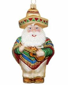Buy Mexican Santa - Personalized Polish Glass Christmas Ornaments, Gifts, and Decorations at the Ornament Shop. Over 5000+ items.