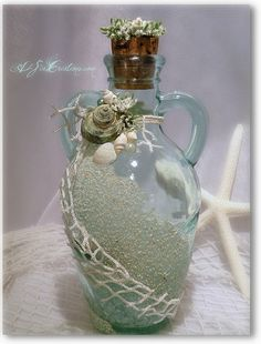 Bottled Treasure - Sea Green Glass.................................d