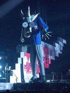 Concert Pink Floyd, Scenographie par Gerald Scarfe