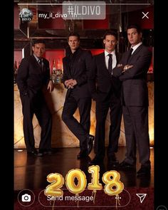 Happy 2018 @my_il_divo  thanks for sharing  #sebsoloalbum #sebdivo #sifcofficial #ildivofansforcharity #sebastien #izambard #ildivoofficial #seb #singer #musician #music #composer #producer #artist #instafollow #instamusic #french #handsome #amazingsinger #followsebdivo #eone_music #wecameheretolove #kingdomcome #up #sebastienizambard #sebstour
