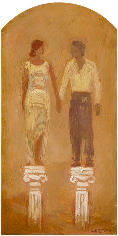 On Equal Pedestals - J Kirk Richards lds art man woman marriage Saints, Lds Art, Artwork Images, Jesus Cristo, Angel Art, Christian Art, Religious Art, Amazing Art, Art Gallery