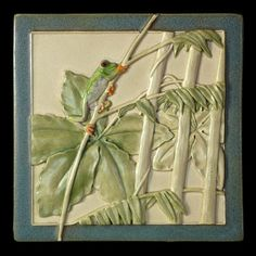 Ceramic tile, tree frog, Romeo, of Romeo and Juliet on Etsy, $68.00