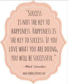 Happiness & success from the passion I have for life, my family & friends & my career.