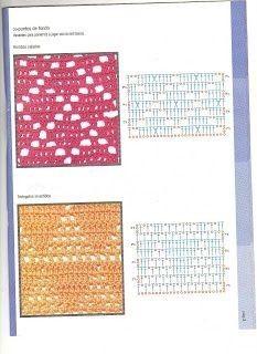 가방뜨기 좋은 무늬 : 네이버 블로그 Granny Square Crochet Pattern, Crochet Stitches Patterns, Crochet Squares, Crochet Granny, Stitch Patterns, Knit Crochet, Granny Squares, Crochet Curtains, Fiber Art