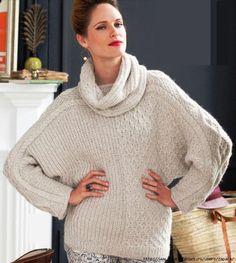 Мобильный LiveInternet Объемный свитер с большим воротником. | Zapara - Дневник Zapara |