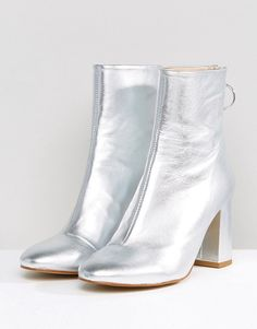 ASOS Edition Metallic Boots - Silver