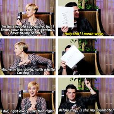 Hunger games...it'll never work, but I so want them to be together...