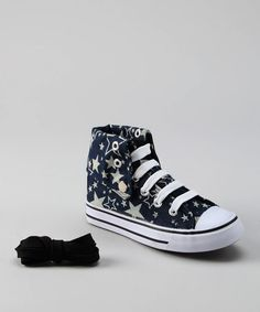 Take a look at this Collection'O Navy Star Hi-Top Sneaker by Collection'O on #zulily today!