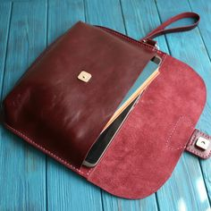 Leather clutch Envelope clutch Leather clutch bag Minimalist
