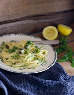 Lemon Spaghetti, A Food, Good Food, My Cookbook, Risotto, Recipies, Pasta, Treats, Cooking
