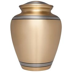Funeral Urn by Liliane  Cremation Urn for Human Ashes  Hand Made in Brass and Hand Engraved  Display Burial Urn at Home or in Niche at Columbarium Peaceful Embrace Model Fits cremated remains of adults as well as the ashes of dogs cats or other pets * More info could be found at the image url.