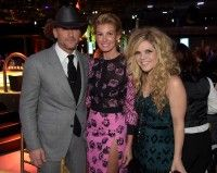 Tim McGraw and Faith Hill pose with Natalie Stovall at the BMI 2014 Country Awards.