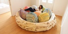 Every studio should have one of these,including ours. Who do I need to talk to, to make this happen? http://www.lostateminor.com/2014/11/07/can-now-relax-giant-birds-nest-thats-actually-sofa/