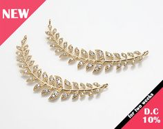 New(10%DC) -Leaf Cubic Long Bar, Jewelry Pendant,  Layered Necklace Polished  Gold- Plated - 1 Pieces [C0337-PG]_Rprice 5.70